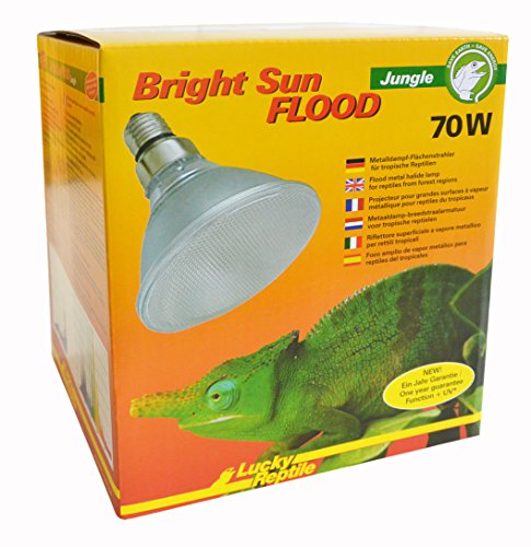LUCKY REPTILE Lucke Reptile Bright Sun UV Jungle flood, 70 Watt de LUCKY REPTILE