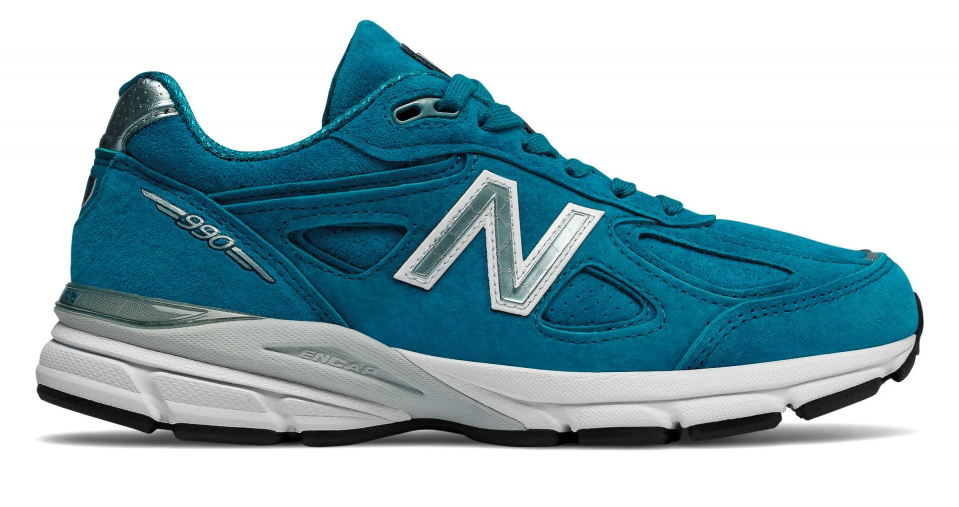 990v4 Made in US de Lake Blue with Silver