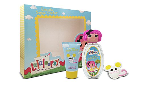 Lalaloopsy Crumbs Sugar Cookie Cute Coffret: Eau De Toilette Spray 100ml + Shower Gel 75ml + French Barrette 3pcs de Lalaloopsy