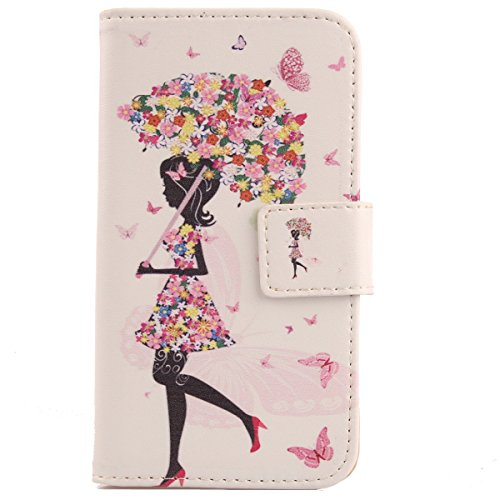 """Lankashi Housse Case Cuir Cover Flip Etui Coque Protection Skin Pour Archos 55 Diamond Selfie Lite 5.5"""" Umbrella Girl Design"" de Lankashi"