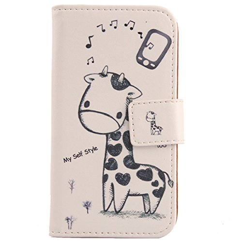 """Lankashi Housse Case Cuir Cover Flip Etui Coque Protection Skin Pour Blackview BV8000 Pro 4G 5"""" (Giraffe Design)"" de Lankashi"
