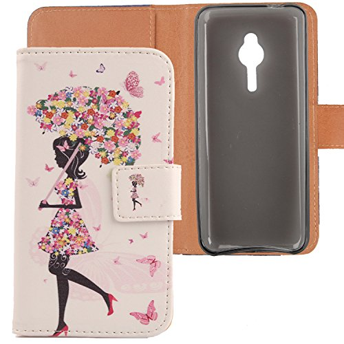 """Lankashi Housse Case Cuir Cover Flip Etui Coque Protection Skin Pour Nokia lumia 230 2.8"""" Umbrella Girl Design"" de Lankashi"