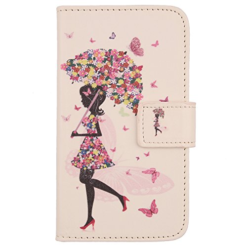 """Lankashi PU Housse Case Cover Cuir Coque Etui Flip Protection Pour Orange Dive 71 5.2"""" Umbrella Girl Design"" de Lankashi"