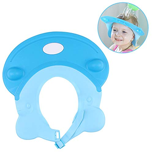 LeRan Adjustable Shampoo Hats Soft Silicone Bathing Protector Cap Suitable for Adults or Kids(bleu) de LeRan