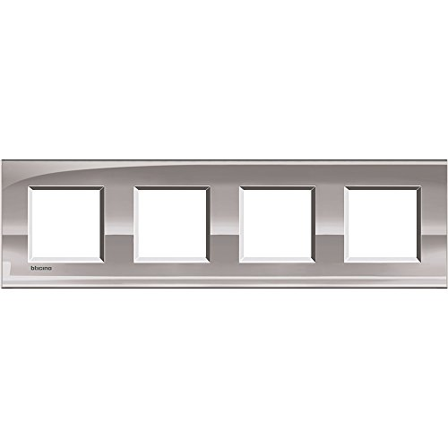 BTICINO LivingLight lna4802 m4ns - ll-placa 2 x 4 m en nickel de Legrand