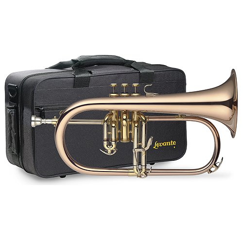 Levante 058990 Bugle à piston SIB Pro + Etui Or de Levante