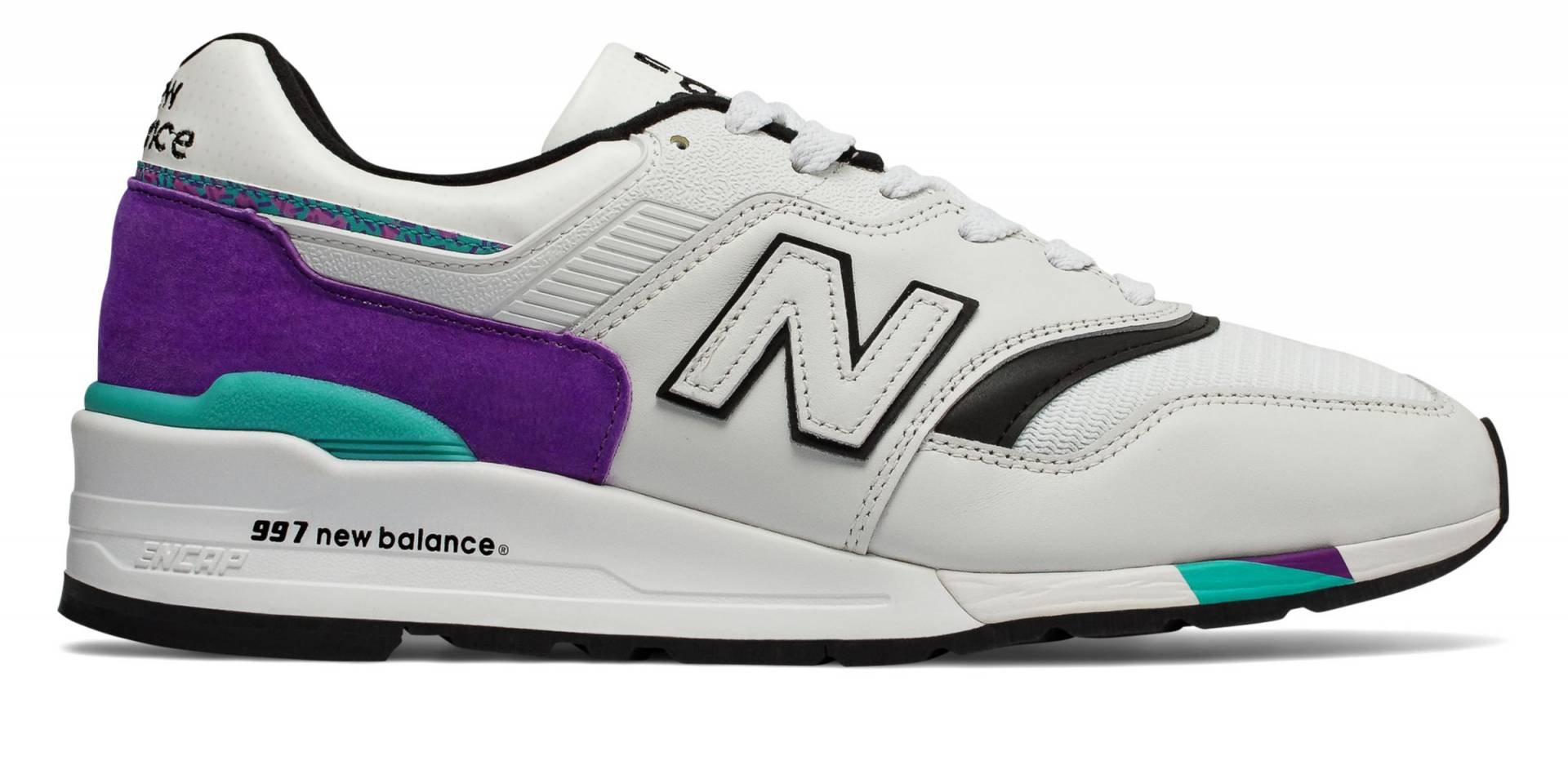 997 Made in US de Light Grey Marl with Purple