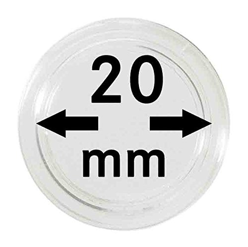 Coin capsules 20 mm (10 Pieces) [Lindner 2250020] de Lindner