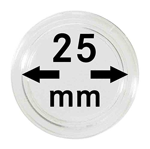 Coin capsules 25 mm (10 Pieces) [Lindner 2250025] de Lindner