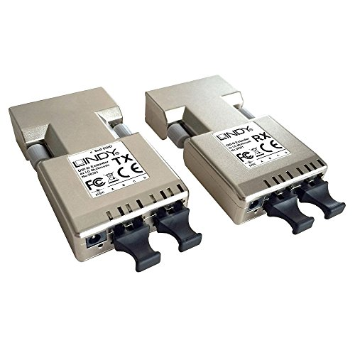 Lindy Extender (amplificateur) DVI-D 500m sur Fibre Optique 2X Duplex LC (50µm) de Lindy