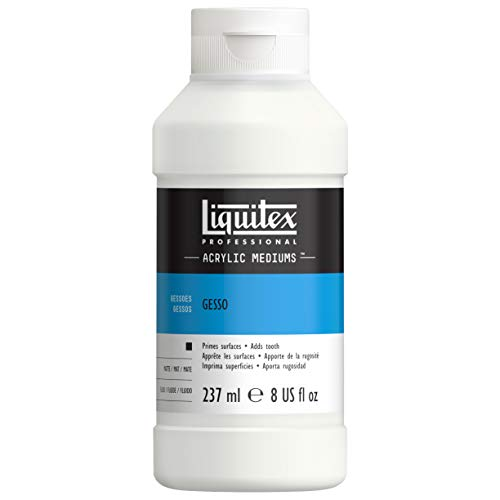 Liquitex Professional Gesso Flacon d'Additif Préparateur de surface 237 ml Blanc de Liquitex