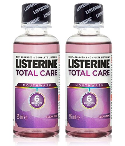 2x Listerine TOTAL CARE Mouthwash MINI Travel Size 95ml by Listerine de Listerine
