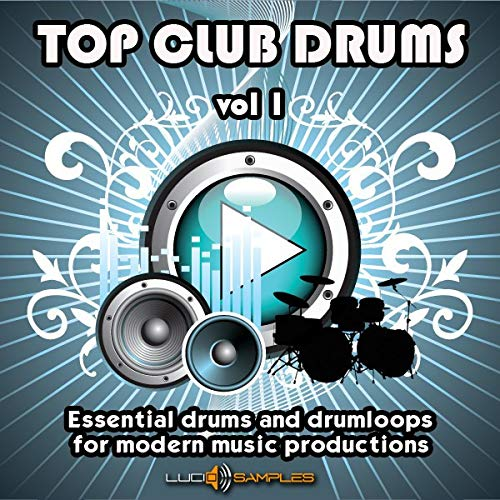 Top Club Drums Vol 1 - 2888 Tambours et Drum Loops, Sample Pack Tambour - Batterie essentielles et Drum Loops pour la production musicale moderne. Tres utile pour les Dj-C... [Wav files] [DVD non-BOX] de LucidSamples