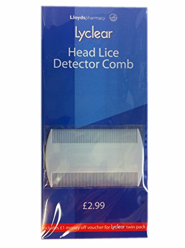 Lyclear Head Lice Detector Comb - Double Sided Nit Brush for Kids Pet Fleas de Lyclear