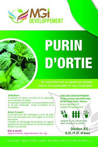 5 L DE PURIN D'ORTIES 100% ENGRAIS NATUREL MADE IN FRANCE de MGI DEVELOPPEMENT