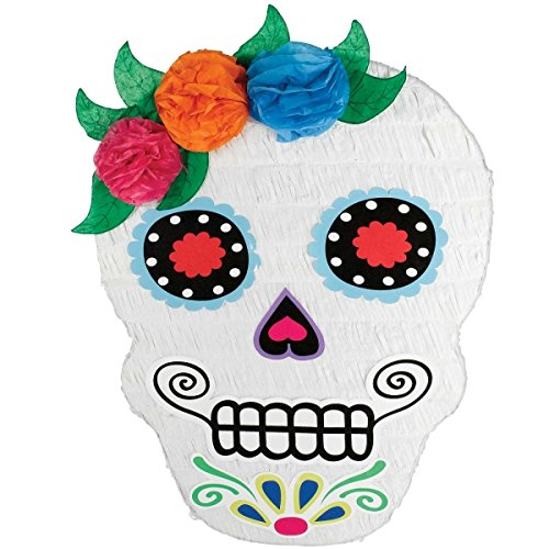 Amscan Day of The Dead Sugar Skull Shaped Party Pinata de MISSY MOO