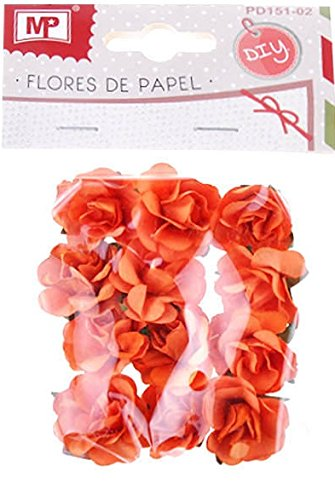 MP pd151 – 02 – Fleur de papier, Lot de 12, couleur orange de MP
