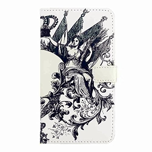 MUTOUREN Coque pour HUAWEI P20 Pro PU Cuir Portefeuille Case Cas Skin Swag Smartphone Accessories Couvrir Couverture Hull Flip Shell Back Cover Coquille Arrière - Personnages mythiques de MUTOUREN