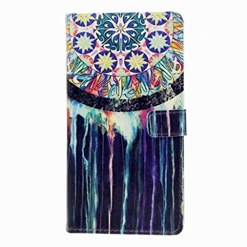 MUTOUREN Coque pour Sony Xperia XZ2 PU Cuir Portefeuille Case Cas Skin Swag Smartphone Accessories Couvrir Couverture Hull Flip Shell Back Cover Coquille Arrière - houppe colorée inde style de MUTOUREN