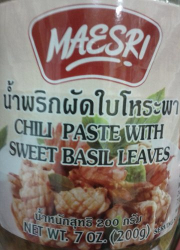 Maesri Chilli Paste With Sweet Basil 200g de Maesri