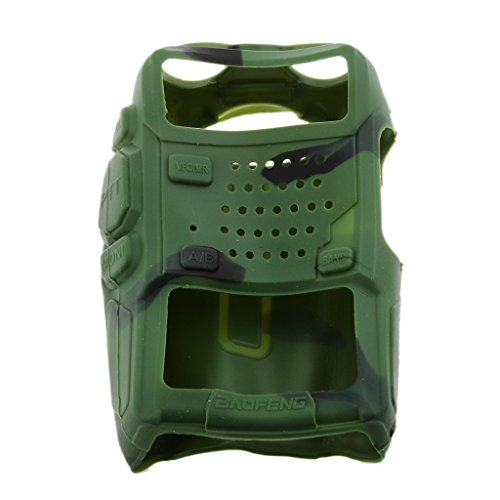 MagiDeal Housse En Silicone Radio Walkie Talkie Pour BaoFeng BF-UV5R TYTF8 Accessoire Durable - Camouflage de MagiDeal