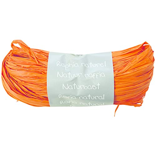 Maildor 196058C Pelote raphia naturel 50g Couleur Orange de Maildor