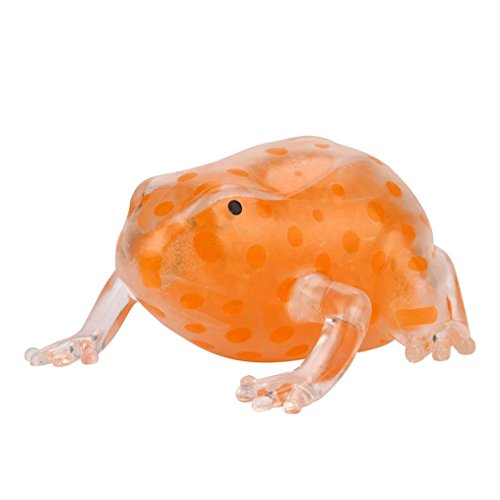 Mamum, jouet collant anti-stress en forme de grenouille, 8 cm Taille unique Orange de Mamum