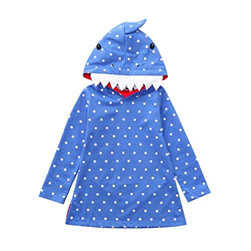 Robe Fille, Mamum Robe de Princesse Enfant Fille Infant Toddler Bébé Filles Robe De Fête De La Bande Dessinée Fantaisie Halloween Vêtements Robes (Bleu, 140(6Ans)) de Mamum