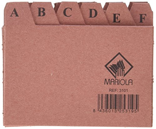 Mariola 3101 Index alphabétique 24 positions en carton 65 x 95 mm de Mariola