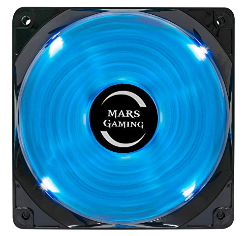 Mars Gaming MF12 - Ventilateur d'ordinateur (éclairage LED bleu, silencieux de Mars Gaming