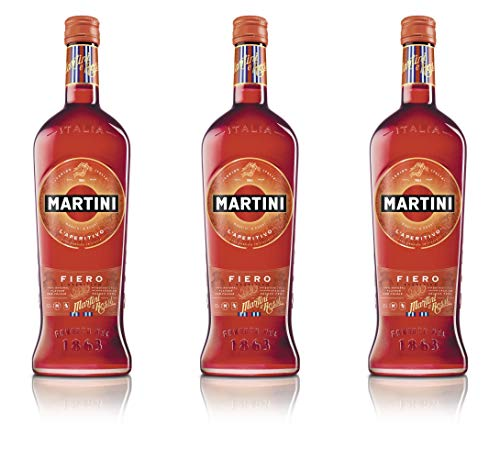 Martini Fiero Apéritif à base de vin 75cl - 14,4° - Lot de 3 de Martini