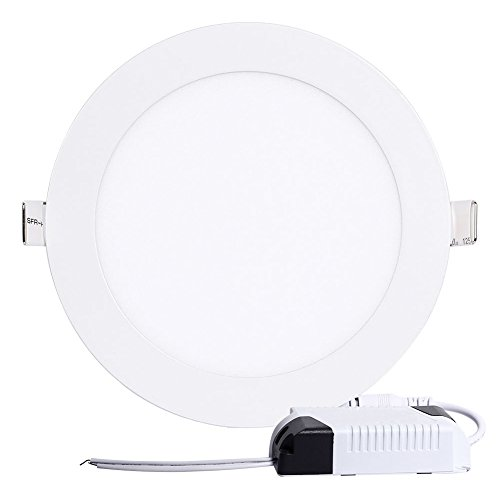 MBO, Lampes à LED encastrable 3,5in Diamètre 3 W 270LM Blanc chaud 2700k Ultra mince rond Panneau Downlights de Maxbayou