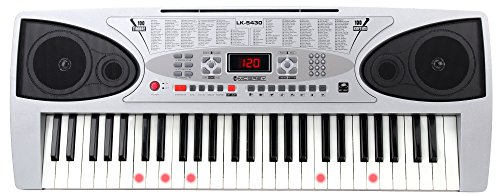 McGrey LK-5430 Clavier avec 54 Notes, Touches Lumineuses, Pupitre Support de Notes et Microphone de McGrey