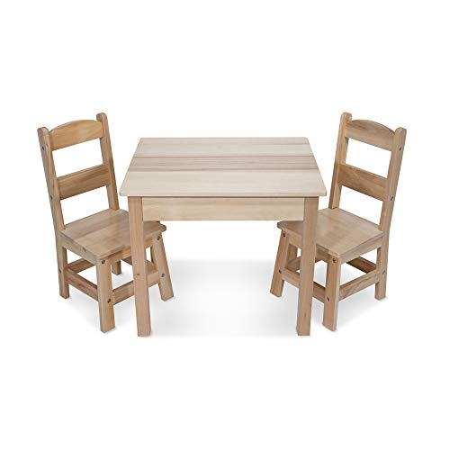 Melissa & Doug- Wooden Table & Chairs Set, 12427 de Melissa & Doug