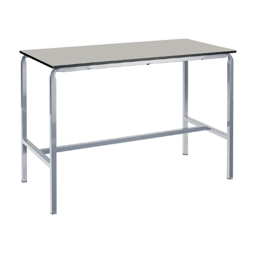 Metalliform Cbcraft-126-md-10-sg-std-light Gris ècrasè Bent Table, MDF Edge, gris clair de Metalliform