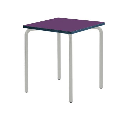 Metalliform Equpr-77-ps-ch-46-lg-purple Table d'èquation, Duraform PU Charbon de bois Edge, Violet de Metalliform