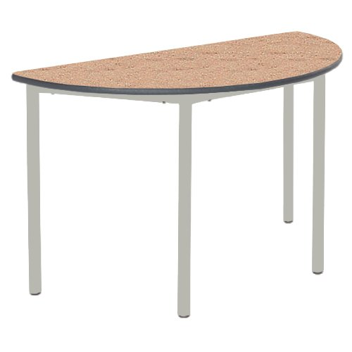 Metalliform Rt32-11sc-ps-ch-53-lg-beech Entièrement soudè Table, Duraform PU Charbon de bois Edge, EN BOIS DE Hètre de Metalliform