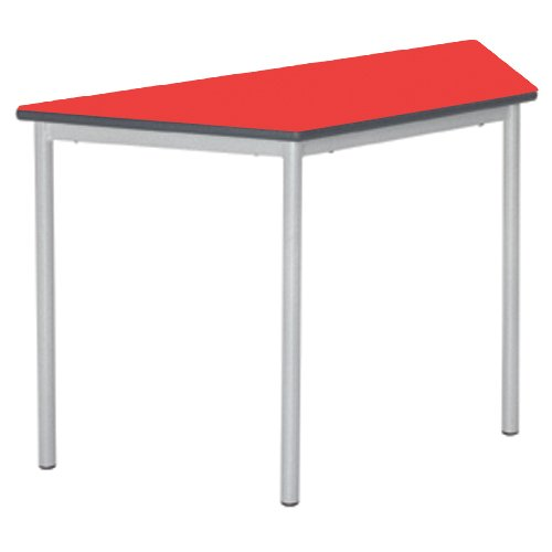 Metalliform Rt32-12le-ps-lg-76-sv-red Entièrement soudè Table, Duraform PU Gris clair Edge, Rouge de Metalliform