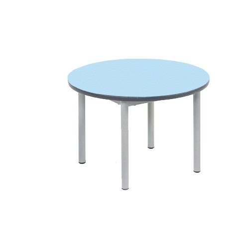 Metalliform Rt32–6 C-38-ps-rd- Table basse, Duraform PU Rouge Edge, bleu clair, 1 de Metalliform