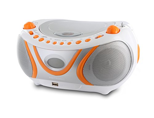 Metronic 477133 Radio/Lecteur CD/MP3 Portable Juicy avec Port USB - Orange et Gris de Metronic