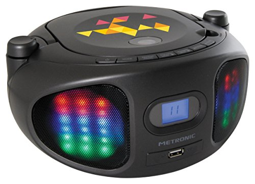 Metronic Lumi Radio CD MP3 USB LED Noir de Metronic