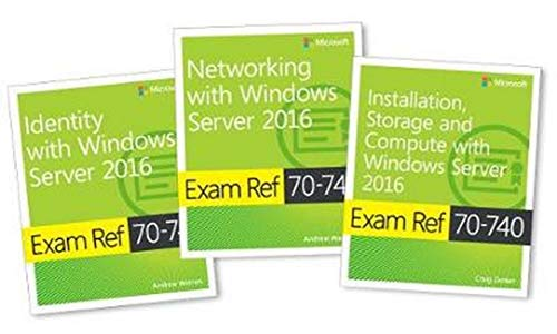 MCSA Windows Server 2016 Exam Ref 3-Pack: Exams 70-740, 70-741, and 70-742 de Microsoft Press