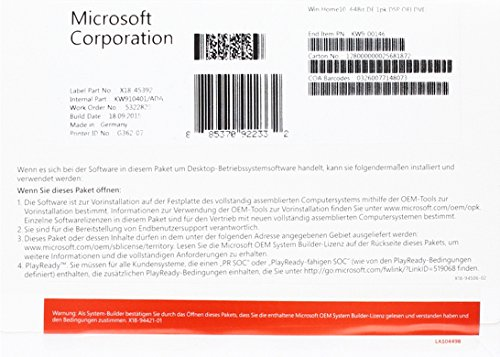 MS Windows Home 10 64bit OEM [import allemand] de Microsoft