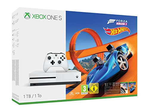 Xbox One S 1tb + Forza Horizon 3 + Hot Wheels de Microsoft