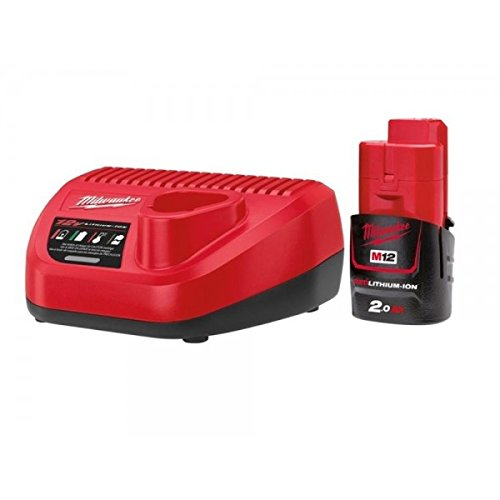 Milwaukee 0002398 Kit de m12b2 Red Lithium-Ion Batterie + C12 C Chargeur de Milwaukee