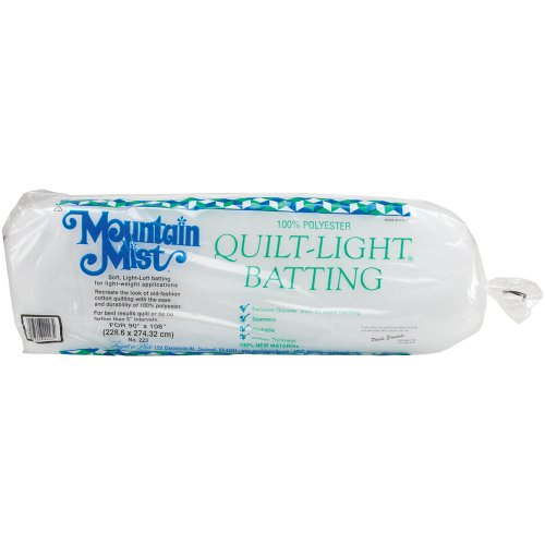 Mountain Mist de Batteur Quilt-Light Polyester Batting-Queen Taille 228,6 x 274,3 cm FOB : MI, de Mountain Mist Batting