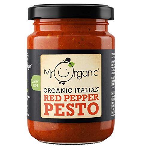 Mr Organic | Red Pepper Pesto (vegan) | 3 x 130g de Mr Organic