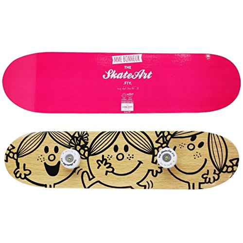 Mr et Mme - Porte Manteau Forme Tendance Skate Board Double Face Licence Mr Et Mme Rose de Mr et Mme