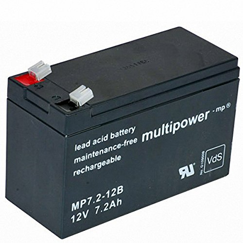 Multipower MP7.2-12B batterie plomb-acide, 7200mAh de Multipower