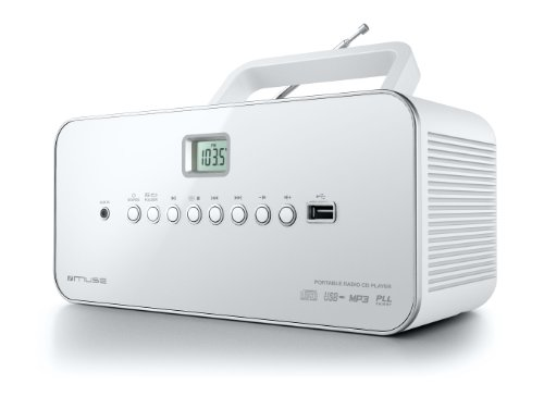 Muse M-28 RDW Radio lecteur de CD/MP3 USB portable Blanc de Muse